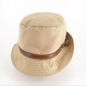 COACH • Beige Crusher Rain Bucket Hat - Sz P/S